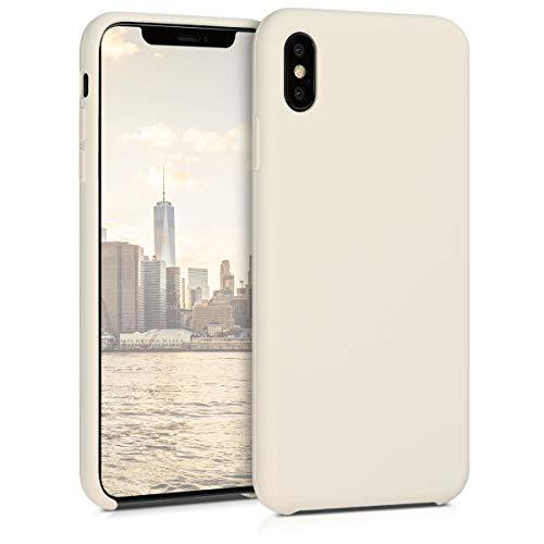 kwmobile Hülle kompatibel mit Apple iPhone XS Max - Hülle Handyhülle gummiert - Handy Hülle in Creme