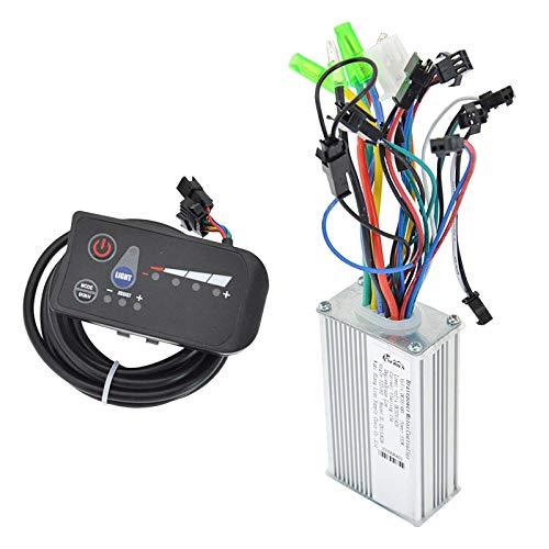 yotijar Controlador de motor sin escobillas, unidad de control de velocidad de conversión del panel del scooter para bicicletas eléctricas – 48 V