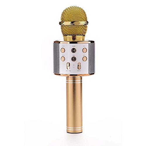 ELK Wireless Bluetooth Karaoke Microphone, Portable Kids Microphone Karaoke for Singing & Recording Compatible with Android/IOS for Home KTV/Outdoor Party/Kids Singing,C