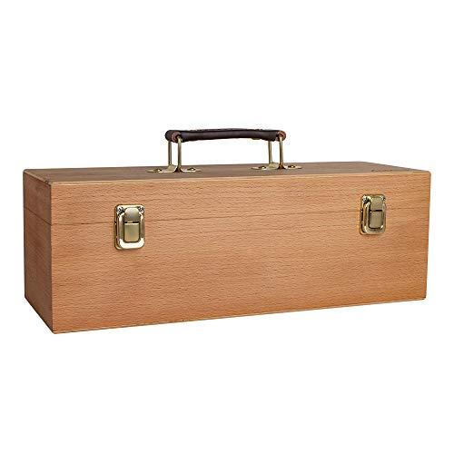 Boîte de rangement utilitaire en bois (vide): bois de hêtre 36 x 13 x 13 cm