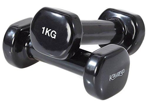 KAWANYO Vinyl Hantel - 2 x 1.0 kg Krafttraining workout Gewichte Kurzhantel