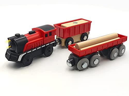 DSHMIXIA OFFicial Battery Operated Max 51% OFF Cargo Train for Wooden Track Set