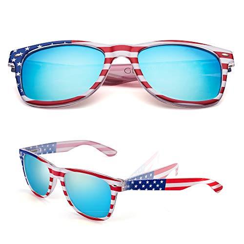 GLADVISION Polarized Classic Unisex American Flag USA Patriot Sunglasses