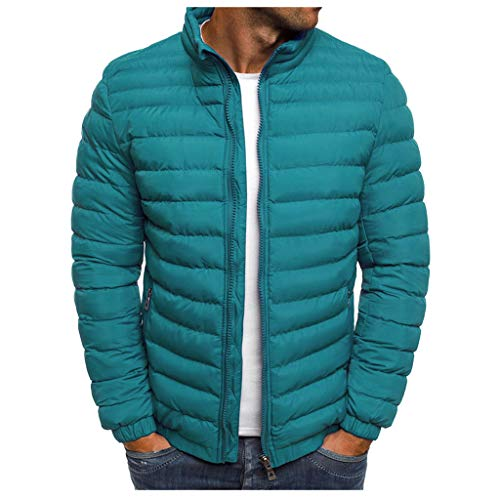 MAYOGO Jacke Herren Leichte Steppjacke Winterjacke Wattierte Jacke Puffer Jacke Winter Jacke (Hellblau, M)