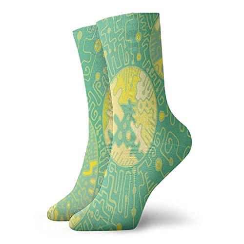 Fodmua Calcetines de compresión para mujer y hombre, coloridos diseños de fantasía, ideales para circulación, médicos, correr, atletismo, enfermera, viajes