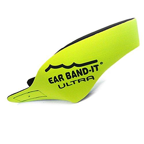Ear Band-It Ultra-Schwimm-Kopfband/Ohrschutz aus Neopren, Größe: M (Alter 4-9 Jahre), gelb, With Blue Putty Buddies