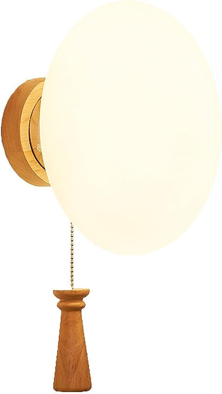 encuentra tu favorito aquí Lámpara de parojo de madera maciza de led de de de madera maciza decorada de dormitorio, 18x30cm  ganancia cero
