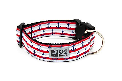 RC Pet Products 1-1/2″ Wide Dog Collar, Nautical, Large