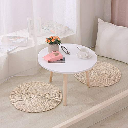 ChengBeautiful Coffee Table Small Coffee Table Balcony Small Creative Simple Tatami Coffee Table Coffee Tea Sofa Side Table Family Living Room Home Decor Coffee Table (Color : Round, Size : S)