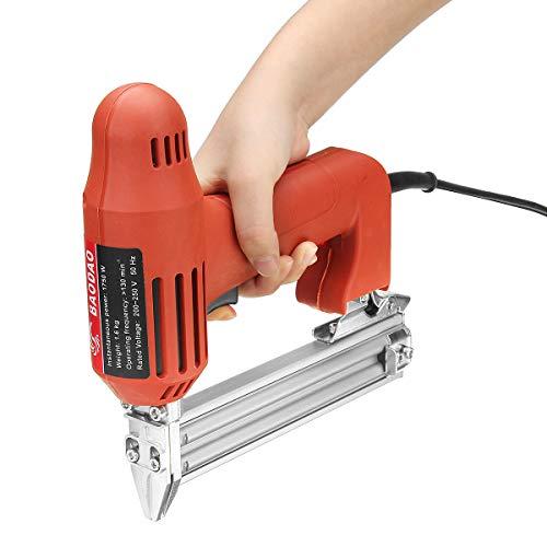 GYAM Grapadora eléctrica/Pistola Clavos 2 en 1 Grapadora Enmarcado Pistola Clavos Recta Forma U para procesamiento gabinetes/Clavado Paredes/Panel Puertas/Decoración Pisos/Etc.