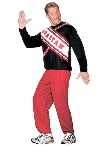 Fun World 8015 SNL Cheerleader Spartan Adulte Costume Homme Taille standard one-size-Homme Taille 46 Poitrine-6