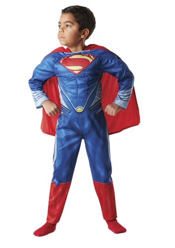 Rubie`s - Muscoloso costume bambino Superman Man of Steel% 22% 22 box (888.342-L)
