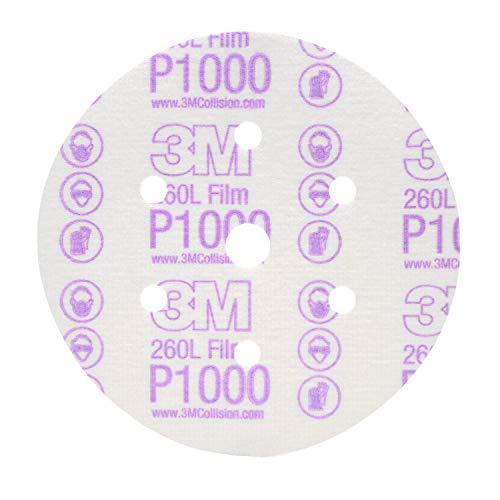 3M Hookit - Disco abrasivo de Acabado 260L, 01069, 6 in, Libre...