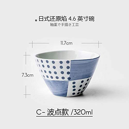 HPPL plaat bot porselein servies voedsel creatief glazuur onder keramische gerechten in de vorm van soep kom gerecht salade rijstkom