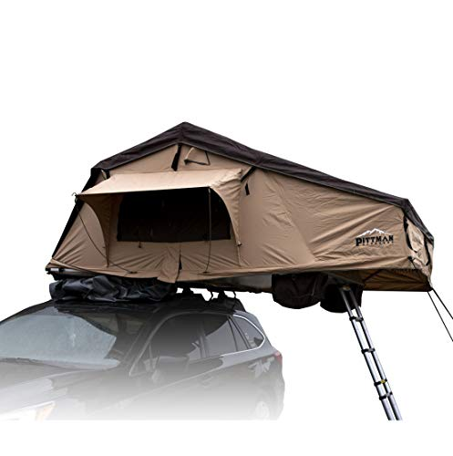 AirBedz by Pittman Outdoors TNT_MAX1.9KO Rooftop Tent with Covered Ladder Access, Sleeps 3-4 People on a High Density Non-Deforming Foam Mattress