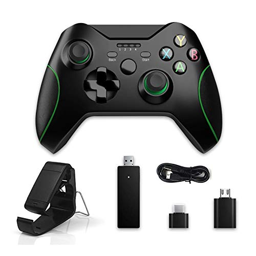 ワイヤレスコントローラー、2.4GゲームジョイスティックXboxOneコントローラーPs3 / AndroidスマートフォンゲームパッドWinPc 7/8/10 02Otg