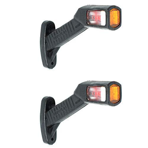 2x LED Begrenzungsleuchten 12V Gelb, Rot, Weiss Positionsleuchte LKW PKW Anhänger E-prüfzeichen