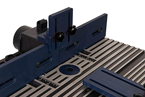 FERM PRA1011 Oberfräsetisch – Mit Staubsaugeranschluss -Verstellbare Winkelführung – Universal: für Oberfräser mit Standfuß bis 162 mm - 6
