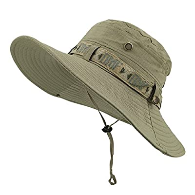 lethmik Camouflage Hat Summer Fishing Sun Hat UV Protection Outdoor Boonie Hat