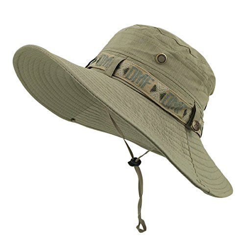 LETHMIK Fishing Sun Boonie Hat Waterproof Summer UV Protection Safari Cap...