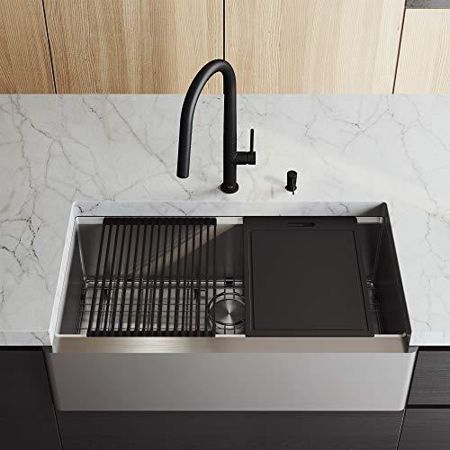 Vigo Farmhouse/apron Front 36″ Stainless Steel Single Bowl Kitchen Sink