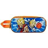 KARACTERMANIA Dragon Ball Super Team-Estuche Portatodo 3D Doble, Azul