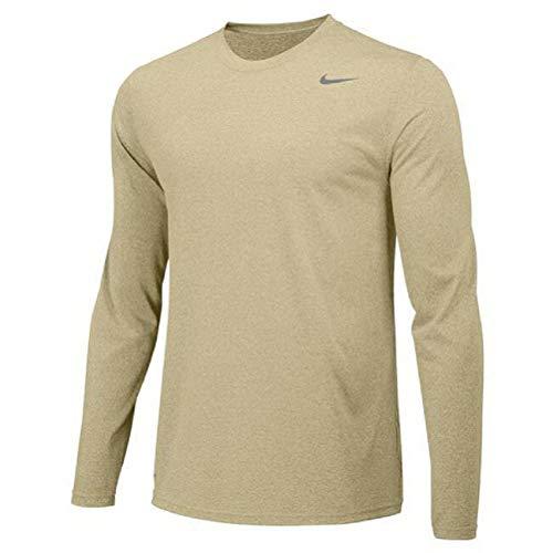 Nike Boys Legend Long Sleeve Athletic T-Shirt (Vegas Gold, Medium)
