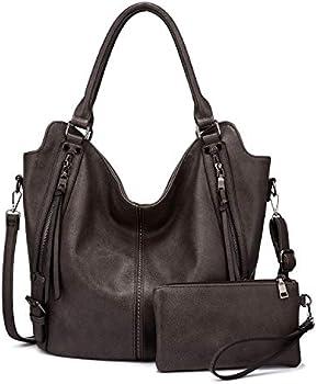 Realer Women PU Leather Fashion Hobo Bags with Adjustable Shoulder Strap