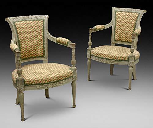 Lonore London - Par de sillas de Estilo Gustavo del Siglo XIX