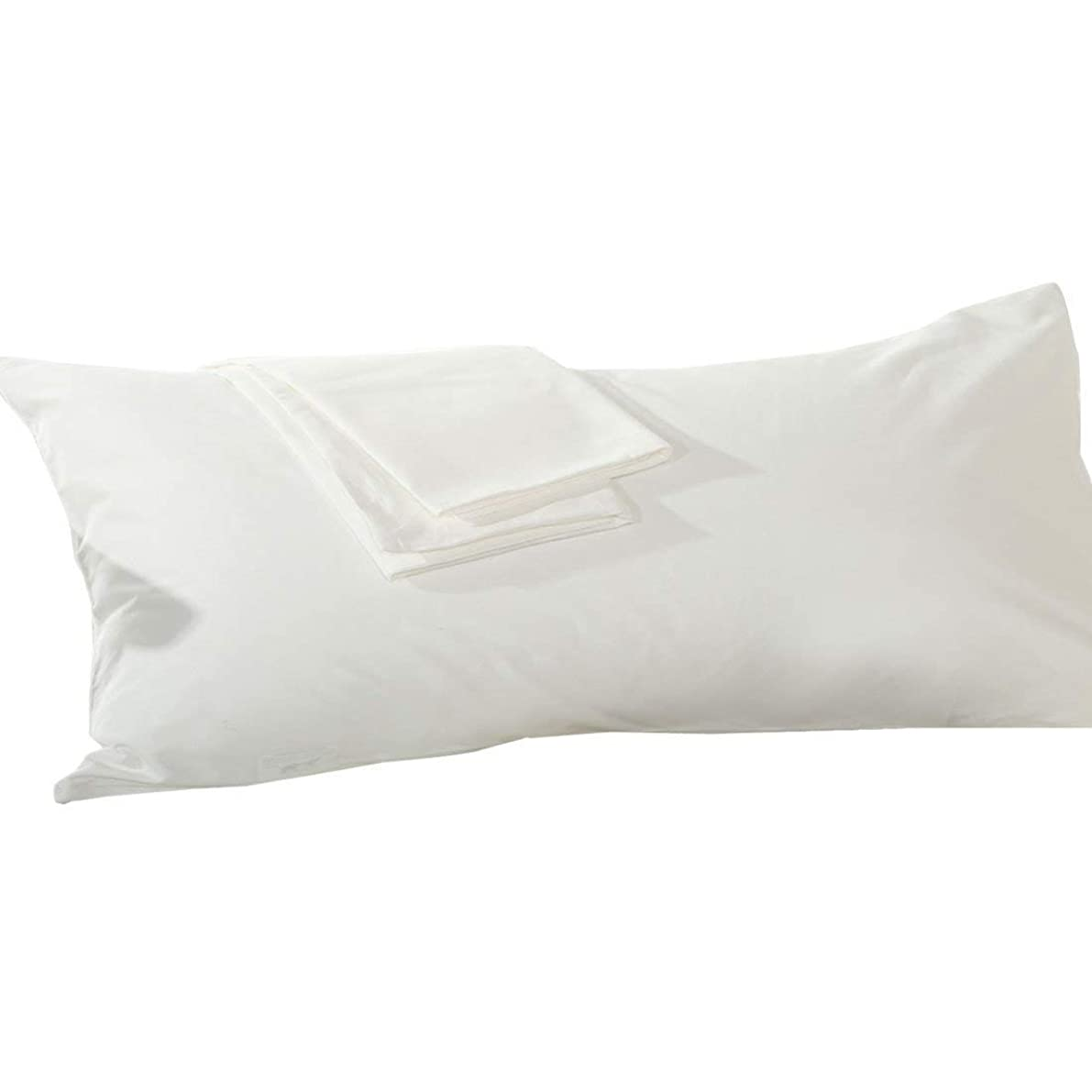 rahoo Body Pillowcase 20x54 Set of 1 Body Pillow Cover with Zipper Closer 500 Thread Count 100% Egyptian Cotton White Solid 20 x 54 Body Pillowcases