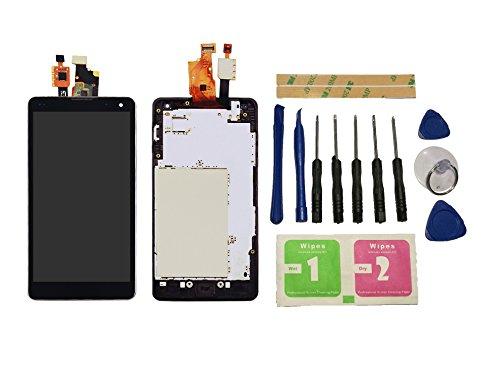 Flügel para LG Optimus G E975 F180 E971 E973 LS970 Pantalla LCD pantalla Negro Táctil digitalizador Completo Pantalla ( con marco ) de Recambio & Herramientas