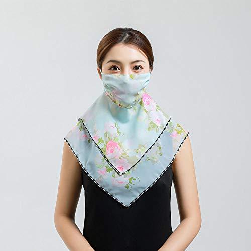 ZAMi Sonnenschutzschal, Halsbedeckung, UV-Schutz, Dünnschnitt, weiblicher Schal - Hellblauer Hintergrund