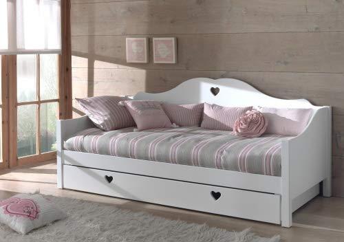 VIPACK AMCO41 Kojenbett mit Bettschublade, 90 x 200 cm, weiß