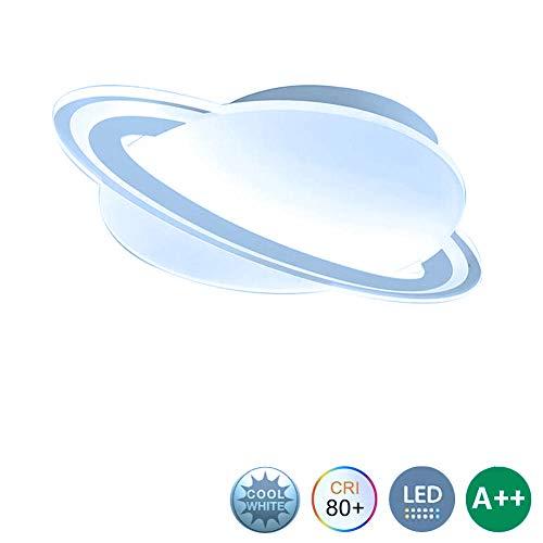 ZZOOK plafondlamp, led, creatief, ultradun, voor kinderkamer, planeet, cartoon, plafondlamp, modern acryl, verlichting voor woonkamer, tuin, binnenverlichting, ophanging van metaal