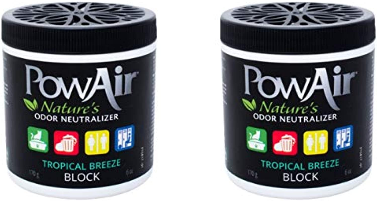 PowAir Odor Neutralizer Block 6oz  Tropical Breeze  2 Pack