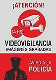 Cartel alarma casa cartel disuasorio alarma conectada en PVC 0.7mm A4