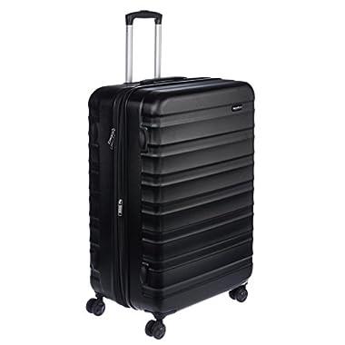 AmazonBasics Hardside Spinner Luggage - 28-Inch, Black