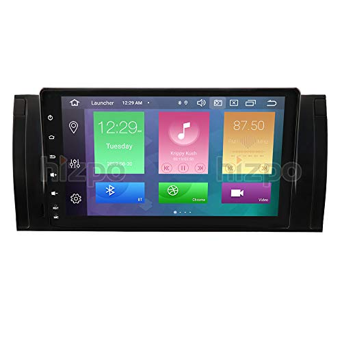 hizpo 9 Inch Android for BMW 5 Series E39 X5 E53 7 Series E38 Car Stereo Double Din Navigation Supports Bluetooth GPS DSP Steering Wheel Control WiFi Radio