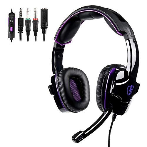 Kopfhörer, High Definition, Head-Mounted, Rauschunterdrückung, schwere Deep-Bass-Kopfhörer, geeignet für Spielerspiele