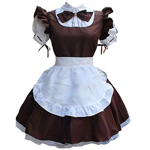 Disfraz de mucama Francesa para seorita,Disfraz para San Valentn Trajes Colegiala Enfermera Picardias Disfraces Schoolgirl Anime Cosplay Costume French Maid Outfit Halloween