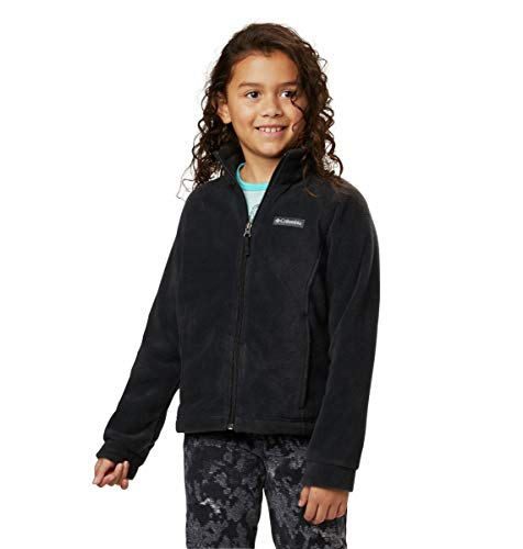 Columbia Girls Benton Springs Fleece Jacket, Black, Large