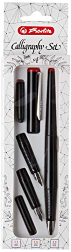 Herlitz 8623001 5-teiliges Füllhalter Calligraphy-Set