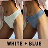 Heliansheng Women's Shaping Underwear T Back High Waist Girls Sports Underwear Sexy Thong -Set 5-M-L-C730