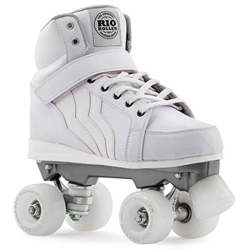 Rio Roller Kicks Quads Rollschuhe Disco Roller weiß white, 43
