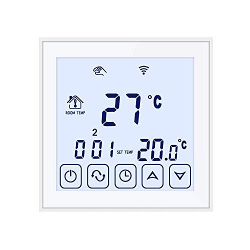 Beok TDS23WIFI-EP Termostato Digital Programable Para Calefacción Eléctrica Debajo Del Piso, Control De La Temperatura De La Habitación Con Teléfono Inteligente Blanco, Blanco, 230.00 V