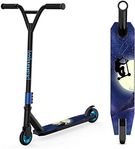 IMMEK Monopattino Freestyle Per Adulti e Bambini Oltre 6 Anni Stunt Scooter Rotativo a 360 Gradi con Cuscinetti a Sfera ABEC-9 Robusto Morsetto Quad - Carico 100 KG