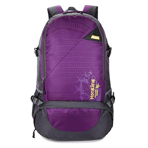 Sac 45L épaule Voyage grande capacité extérieure Alpinisme Forfait Loisirs Mouvement , purple