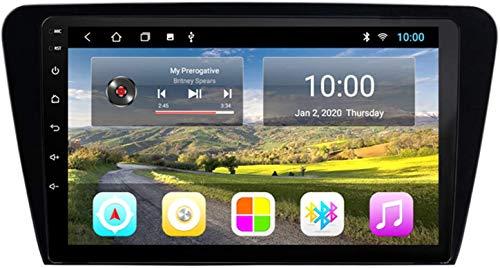 Coche GPS Multimedia Player Es Adecuado para Skoda Octavia 2014-2018 Android con La Máquina Integrada De Navegación Bluetooth Toque Completo,4core 4g WiFi:1+32gb