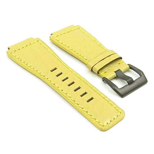 DASSARI Boulder Senape Alligatore cinturino in pelle compatibile con Bell &...