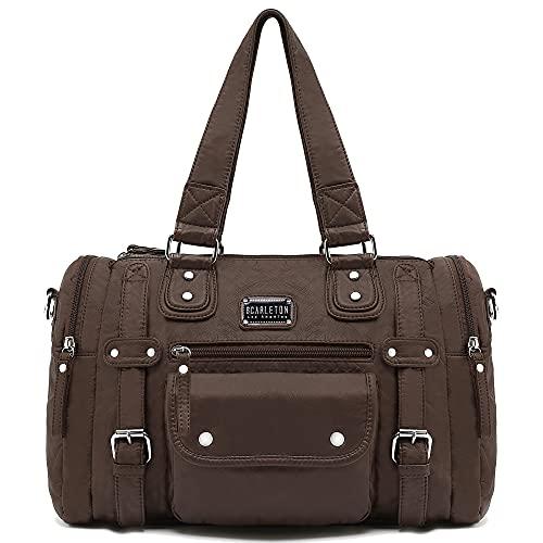 Scarleton Satchel Handbag for Women, Purses for Women, Shoulder Bags for Women, H148521 - Coffee Brown